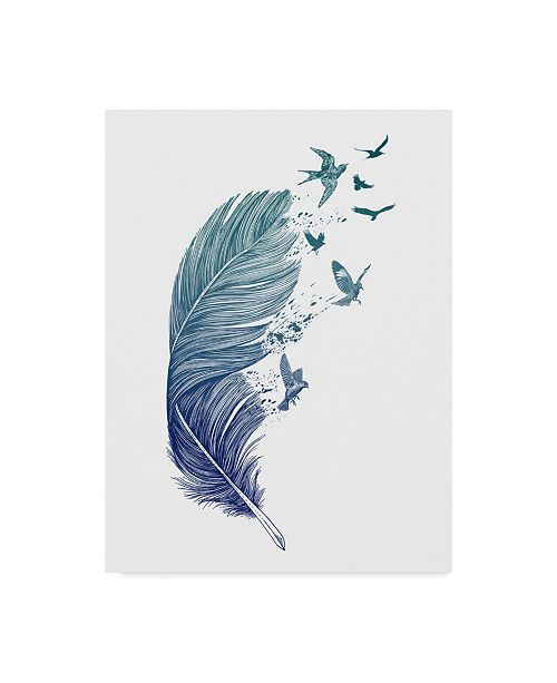 "Trademark Global Rachel Caldwell 'Fly Away Feather' Canvas Art - 24"" x 32"""