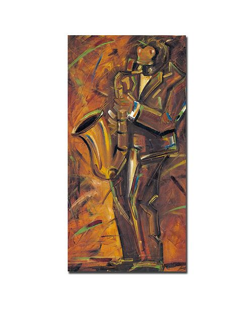 "Trademark Global Joarez 'Jazz II' Canvas Art - 32"" x 16"""