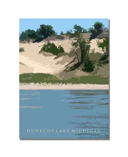 "Trademark Global Michelle Calkins 'Dunes of Lake Michigan II' Canvas Art - 24"" x 18"""