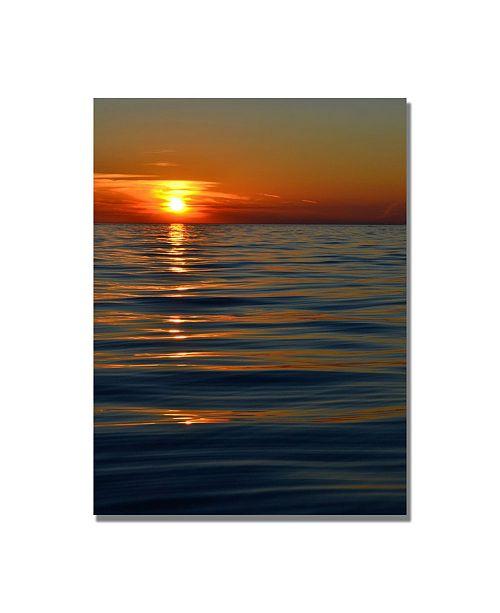 "Trademark Global Michelle Calkins 'Sunset over the Lake' Canvas Art - 32"" x 22"""