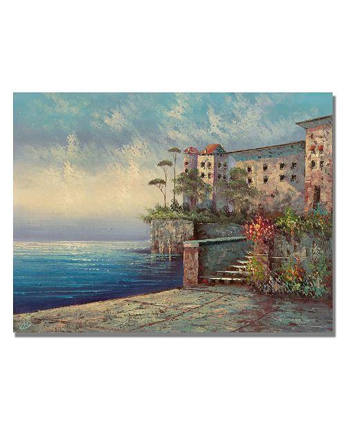 "Trademark Global Rio 'Bellagio Lakeside Promenade' Canvas Art - 32"" x 22"""