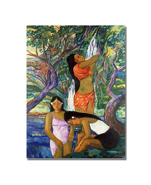 """Trademark Global Manor Shadian 'Hana Waterfall' Canvas Art - 24"""" x 18"""""""