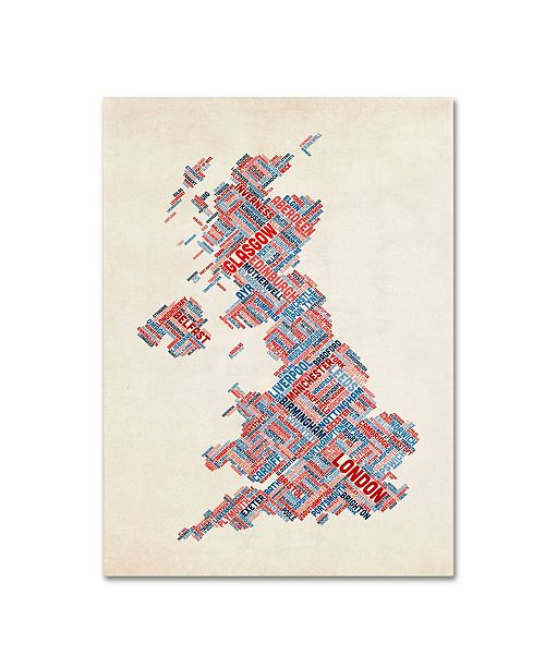 "Trademark Global Michael Tompsett 'United Kingdom III' Canvas Art - 32"" x 22"""
