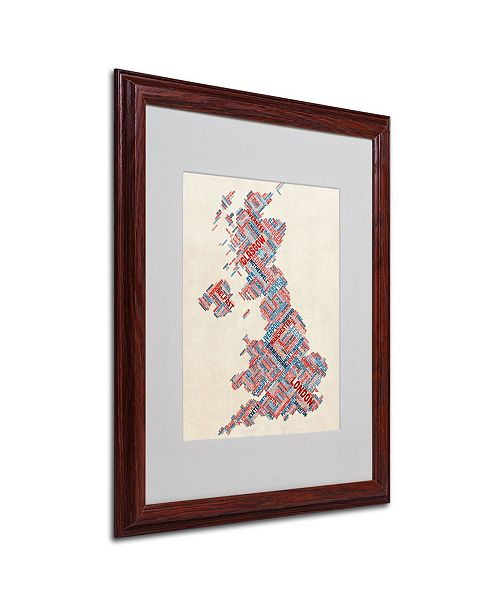 "Trademark Global Michael Tompsett 'United Kingdom III' Matted Framed Art - 20"" x 16"""