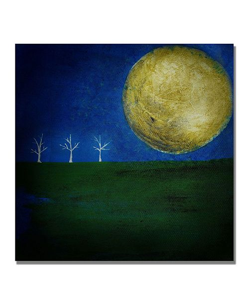 "Trademark Global Nicole Dietz 'Moonlight Minute' Canvas Art - 35"" x 35"""