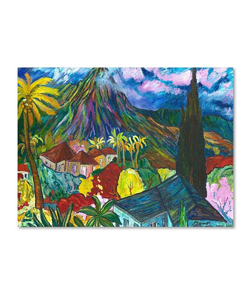 """Trademark Global 'House By the Mountain' Canvas Art - 24"""" x 18"""""""