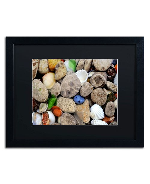 "Trademark Global Michelle Calkins 'PetoskeyStones lll' Matted Framed Art - 20"" x 16"""