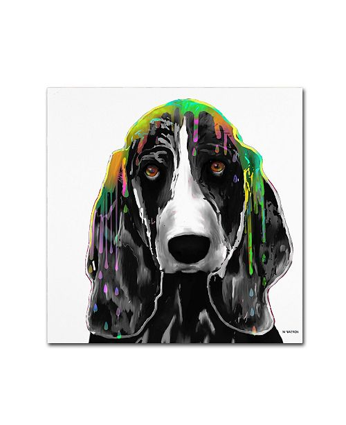"Trademark Global Marlene Watson 'Basset Hound' Canvas Art - 24"" x 24"""