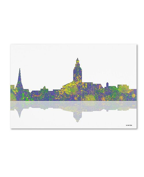 "Trademark Global Marlene Watson 'Annapolis Maryland Skyline II' Canvas Art - 22"" x 32"""