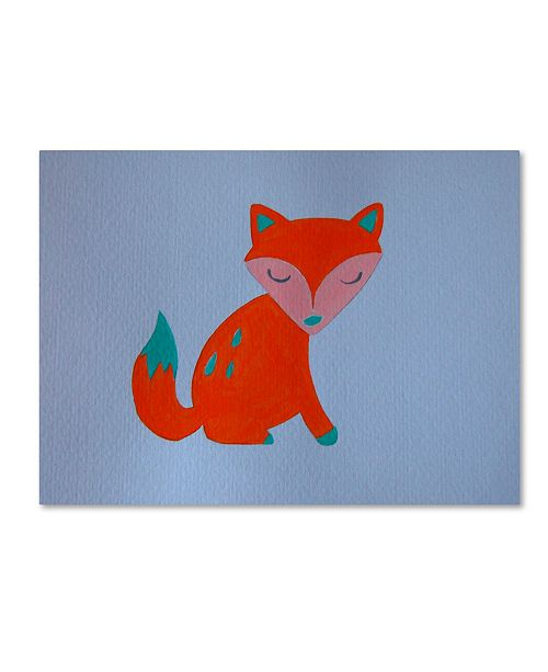 """Trademark Global Nicole Dietz 'Orange Fox' Canvas Art - 24"""" x 32"""""""