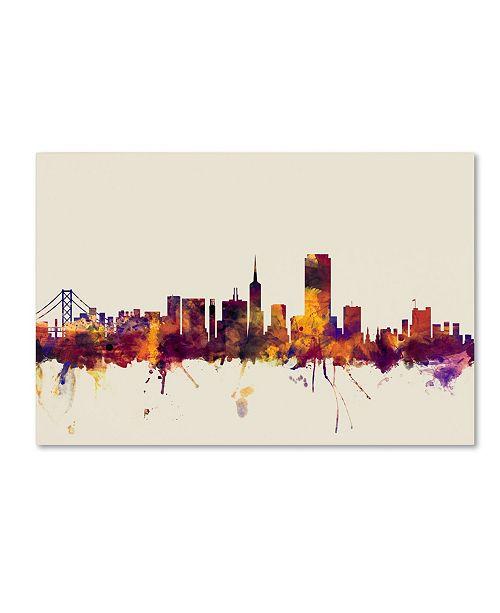 "Trademark Global Michael Tompsett 'San Francisco City Skyline IV' Canvas Art - 30"" x 47"""