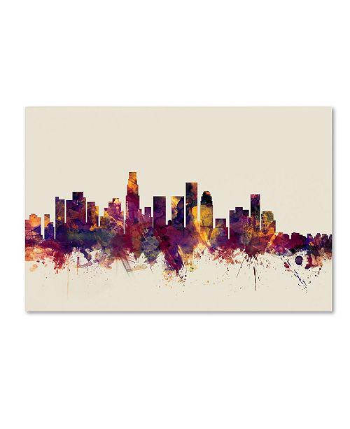 "Trademark Global Michael Tompsett 'Los Angeles California Skyline IV' Canvas Art - 30"" x 47"""