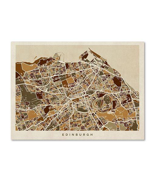 "Trademark Global Michael Tompsett 'Edinburgh Street Map II' Canvas Art - 24"" x 32"""