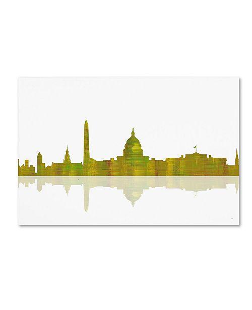 "Trademark Global Marlene Watson 'Washington DC Skyline III' Canvas Art - 30"" x 47"""