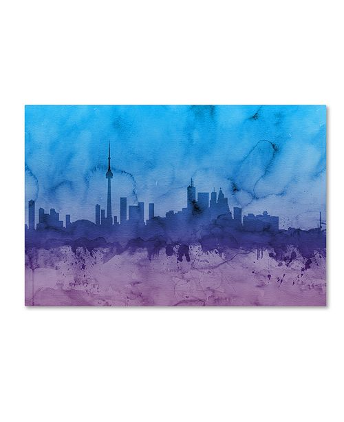 "Trademark Global Michael Tompsett 'Toronto Canada Skyline II' Canvas Art - 30"" x 47"""
