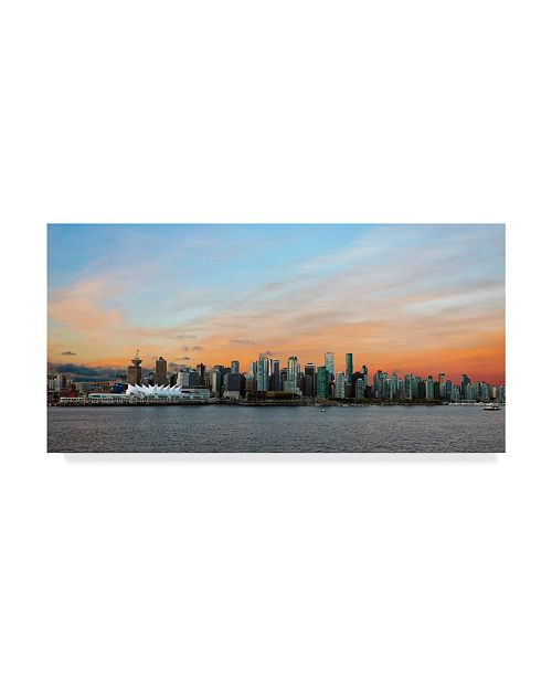 "Trademark Global Mitch Catanzaro 'Vancouver Skyline' Canvas Art - 12"" x 24"""