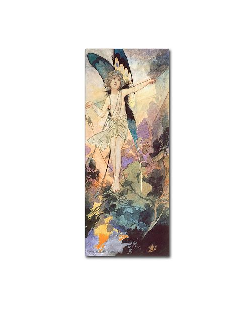"Trademark Global Vintage Apple Collection 'CA Fairy 25' Canvas Art - 10"" x 24"""
