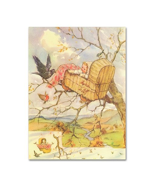 "Trademark Global Vintage Apple Collection 'CA Fairy 74' Canvas Art - 14"" x 19"""