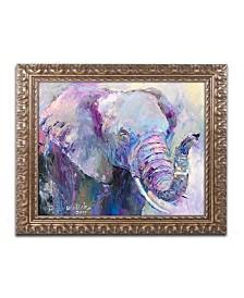 "Richard Wallich 'Blue Elephant' Ornate Framed Art - 11"" x 14"""