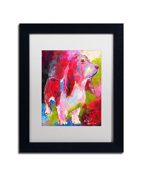 """Trademark Global Richard Wallich 'Red Head' Matted Framed Art - 11"""" x 14"""""""