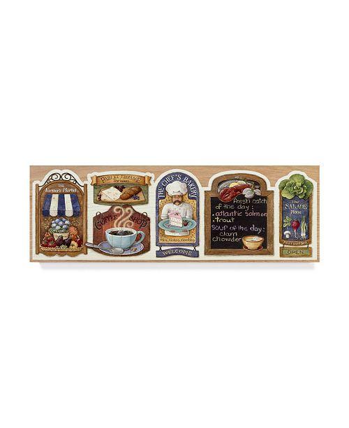 "Trademark Global Lisa Audit 'Signs, Stoves, Kitchen' Canvas Art - 10"" x 32"""