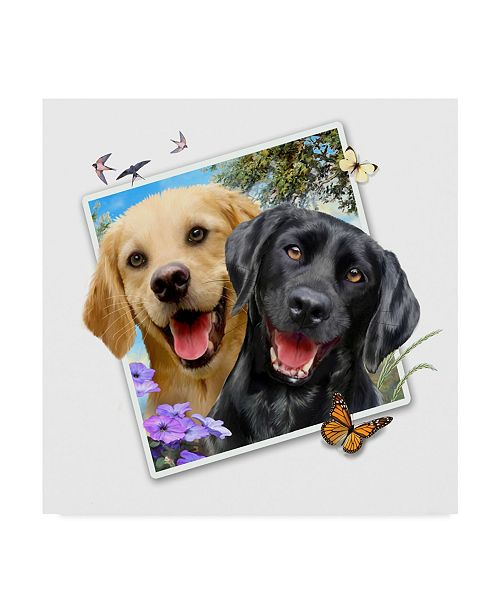 """Trademark Global Howard Robinson 'Puppy Picture' Canvas Art - 14"""" x 14"""""""