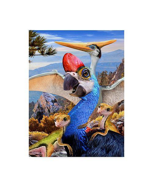 "Trademark Global Howard Robinson 'Prehistoric Birds' Canvas Art - 14"" x 19"""