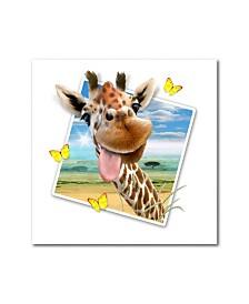 "Howard Robinson 'Giraffe Picture' Metal Art - 16"" x 16"""