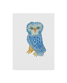 "Jessmessin 'Owl' Canvas Art - 14"" x 19"""