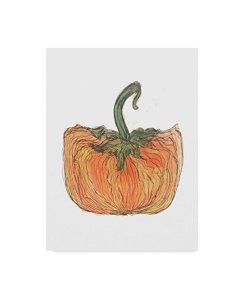 "Trademark Global Jessmessin 'Squat Pumpkin' Canvas Art - 14"" x 19"""
