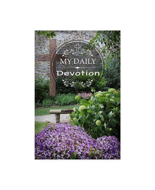 """Trademark Global Jean Plout 'My Daily Devotion' Canvas Art - 12"""" x 19"""""""