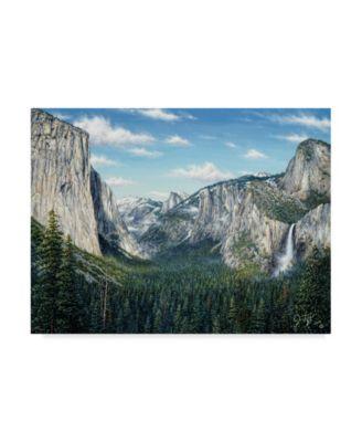 "Jeff Tift 'Yosemite Valley' Canvas Art - 14"" x 19"""