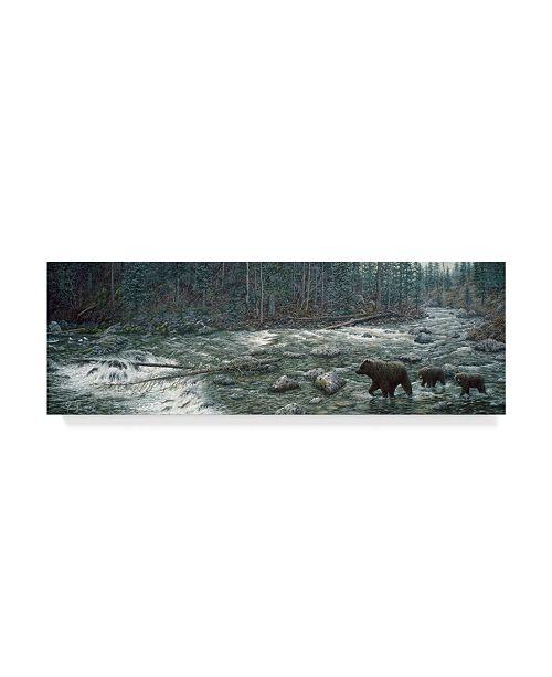 "Trademark Global Jeff Tift 'Cool Creek' Canvas Art - 10"" x 32"""