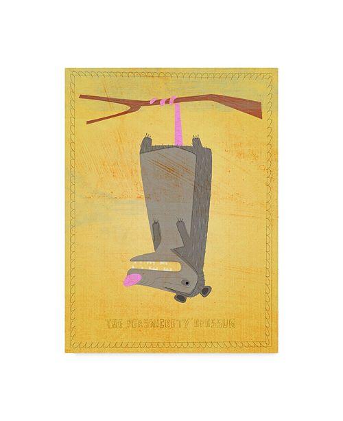 "Trademark Global John W. Golden 'The Persnickety Opossum' Canvas Art - 14"" x 19"""