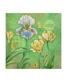 "Maria Rytova 'Spring Flowers II' Canvas Art - 14"" x 14"""