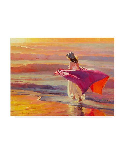 "Trademark Global Steve Henderson 'Catching The Breeze' Canvas Art - 14"" x 19"""