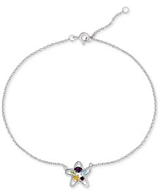 Multi-Gemstone Starfish Ankle Bracelet (1/3 ct. t.w.) in Sterling Silver