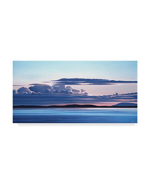 """Trademark Global Ron Parker 'Evening Clouds On The Water' Canvas Art - 10"""" x 19"""""""