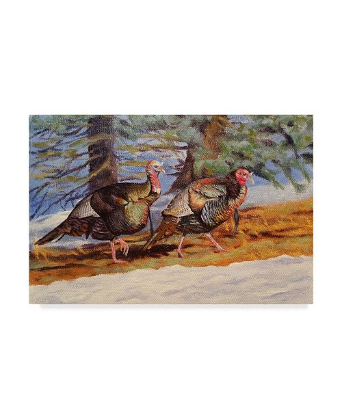 "Trademark Global Rusty Frentner 'Plain Air Bridge Reflections' Canvas Art - 14"" x 19"""
