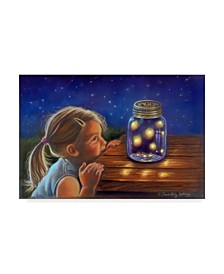 "Tricia Reilly-Matthews 'Magical Fireflies' Canvas Art - 12"" x 19"""