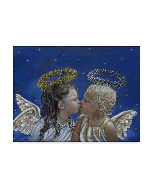 "Trademark Global Tricia Reilly-Matthews 'Angel Kisses' Canvas Art - 14"" x 19"""