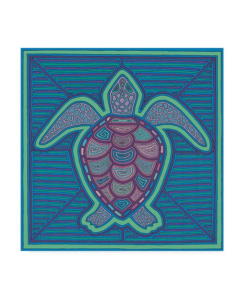 "Trademark Global Willow Bascom 'Turtle' Canvas Art - 14"" x 14"""