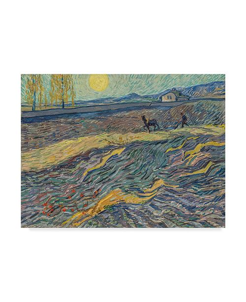 "Trademark Global Vincent Van Gogh 'Farmer in a Field, 1889' Canvas Art - 14"" x 19"""