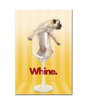 "Gifty Idea Greeting Cards and Such 'Pug Whine' Canvas Art - 14"" x 19"""