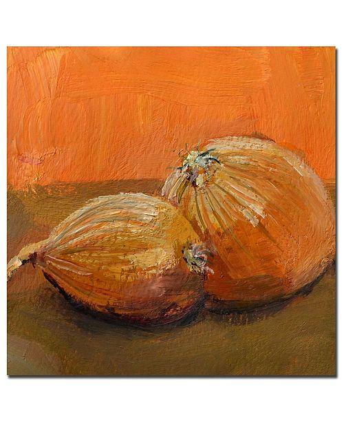 "Trademark Global Michelle Calkins 'Yellow Onions' Canvas Art - 14"" x 14"""
