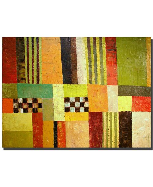 "Trademark Global Michelle Calkins 'Color Pattern Abstract' Canvas Art - 14"" x 19"""