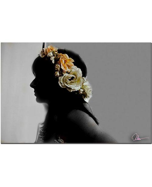"""Trademark Global Martha Guerra 'Flora' Canvas Art - 14"""" x 19"""""""