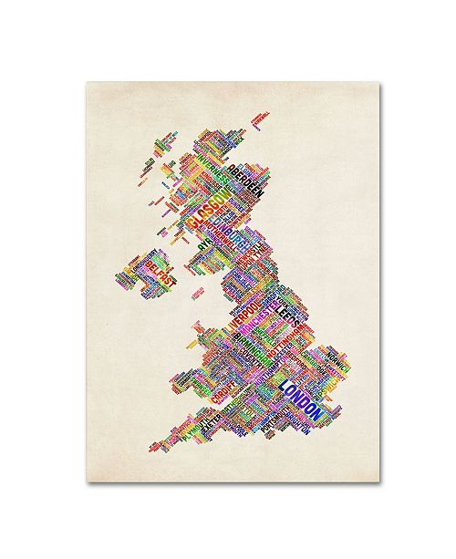 "Trademark Global Michael Tompsett 'United Kingdom I' Canvas Art - 14"" x 19"""
