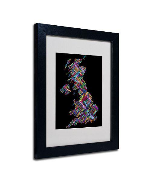 """Trademark Global Michael Tompsett 'United Kingdom VII' Matted Framed Art - 14"""" x 11"""""""