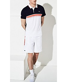 Men's Sport Ultra Dry Gradient Chest-Print Polo Shirt